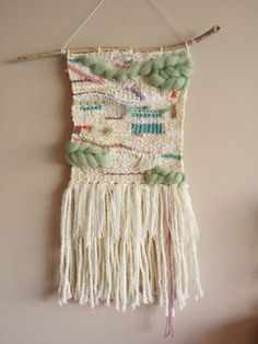 Weaving Wall Hanging // Hand woven in White and par LoveOfSweeties