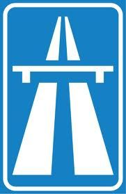 autosnelweg : dat boord zie je als je de snelweg op gaat door: juley en abel