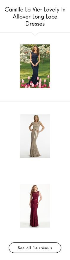 """Camille La Vie- Lovely In Allover Long Lace Dresses"" by camillelavie on Polyvore featuring dresses, cap sleeve lace cocktail dress, cap sleeve short dress, glitter dress, short cap sleeve lace dress, lace cap sleeve dress, long lace dress, white cocktail dresses, beaded bridesmaid dresses and long dresses"