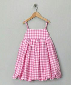 Take a look at this Pink Gingham Bubble Dress - Toddler & Girls by Katie & Co.Likes, 163 Comments - ⤵BThese balloon dresses are so cute, formal or casual. I've got to find a good way to make them and adjust my patterns Baby Girl Frocks, Frocks For Girls, Toddler Girl Dresses, Little Girl Dresses, Toddler Girls, Baby Dresses, Dress Girl, Baby Girls, Girls Dresses