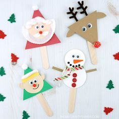 quick and easy Christmas activities for kids. Simple Christmas arts and crafts ideas for kids of all ages. DIY Christmas decorations and handmade Christmas gifts ideas for kids. Childrens Christmas Crafts, Christmas Crafts For Kids To Make, Handmade Christmas Gifts, Christmas Activities, Xmas Crafts, Craft Stick Crafts, Simple Christmas, Kids Christmas, Santa Crafts
