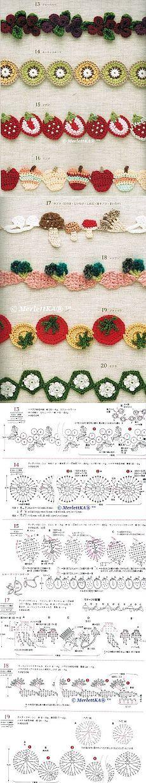 Вязание крючком - 100 вариантов окантовки, каймы и обвязки края
