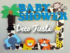 Marco para fotos Jungla Baby Shower Baby Shower Deco, Babyshower, Frames, Country, Party, Photos, Baby Sprinkle Shower, Baby Shower, Baby Showers