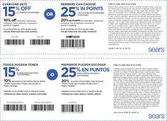 Free Printable Coupons: Sears Coupons