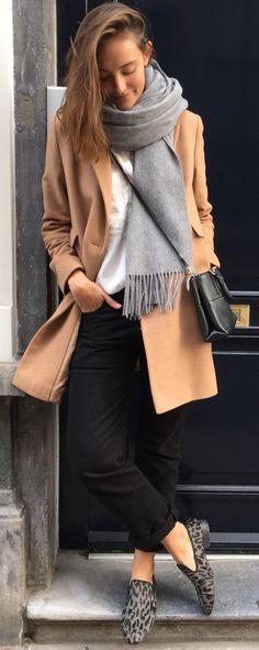 Polienne Camel Coat Fall Street Style Inspo #Fashionistas