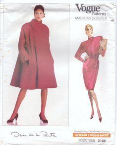80s Vogue American Designer Pattern 2186 Oscar de by CloesCloset, $28.00