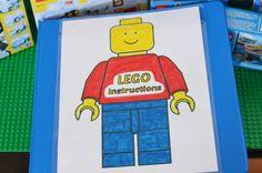 printable LEGO man and DIY LEGO Station table