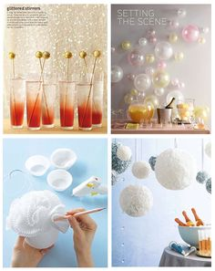 Lots of cool craft ideas for a party