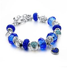 Murano Crystal Beads Bracelets For Women Friendship Love Charm Gold Plated Chain DIY Bracelets Bangles Like and Share if you want this Visit our store Fashion Bracelets, Bangle Bracelets, Bangles, Diy Bracelet, Crystal Beads, Crystals, Glass Crystal, Murano Glass, Crystal Jewelry