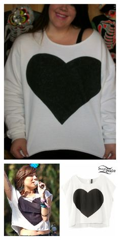 I cut up an oversize sweatshirt and painted on the black heart.