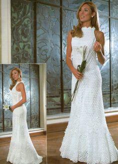 Otro maravilloso vestido de novia a crochet ❀*¨*•.¸¸❀