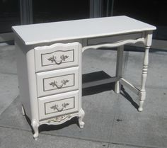 UHURU FURNITURE & COLLECTIBLES: SOLD - French Provincial Desk - $40