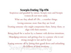 "how to pass the scorpio ""trust test."" it's all so painfully truly."