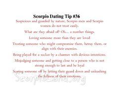 Woman dating tips scorpio