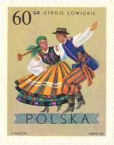 1969 Poland - Dancing couples from Lowicz, Lodz area