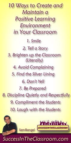 10 Ways to Create and Maintain a Positive Classroom Environment