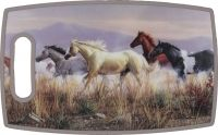Cutting Board - Rectangular with Hautman Brothers horse artwork