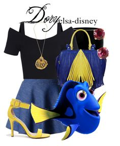 """Dory"" by elsa-disney ❤ liked on Polyvore featuring Chicwish, Alexander McQueen, The Volon, Breckelle's and Kate Spade"