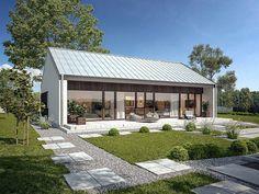 Projekt domu Murator C365a Przejrzysty - wariant I 92 m2 - koszt budowy 209 tys. zł - EXTRADOM Modern House Plans, Modern House Design, Muji Home, Scandinavian Home, House Colors, Building A House, Deco, Home Remodeling, Cottage