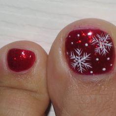- livermore, ca, united states christmas nail art designs, fall nail design Cute Christmas Nails, Christmas Nail Art Designs, Xmas Nails, Winter Nail Designs, Holiday Nails, Toenail Art Designs, Pedicure Designs, Pedicure Nail Art, Pretty Toe Nails