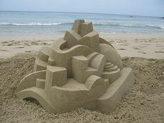 post-modern sandcastle by box builder, via Flickr