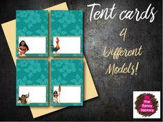 Moana inspired Tent cards de ThefancyfactoryES en Etsy