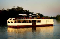 Arguably the best Vaal river cruise, the Petit Verdot Floating Restaurant Johannesburg City, Floating Restaurant, Bars And Clubs, Floating House, Local Artists, Seafood, The Best, Tourism, Cruise