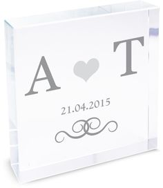 Personalise this Silver Monogram Large Crystal Token with 2 initials and a line of text up to 20 characters in length.  #ValentinesDay