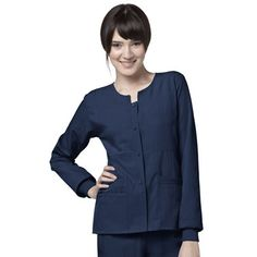 Scrub Jacket WonderWink- Four-Stretch Button Front