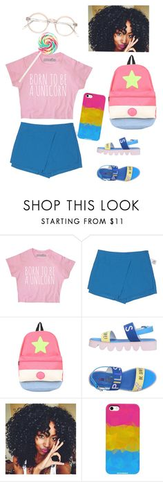 """Pan Pride 🎀🌻💙"" by sapphire-stone ❤ liked on Polyvore featuring Forever 21, Cartoon Network, SH Collection, pride, lgbt and Pansexual"