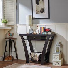 Furniture of America Shinway Modern Console Table (Light Oak), Brown