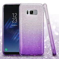 MYBAT Glitter Hybrid Galaxy S8+ Plus Case - Purple Gradient