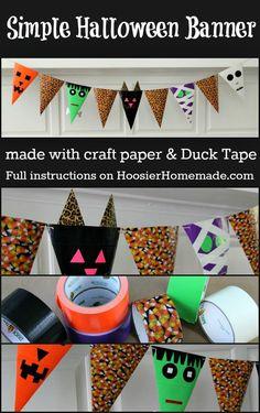 Adorable Duck Tape Halloween Banner