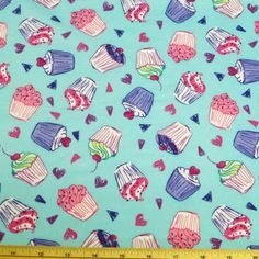 Cotton Jersey Cupcakes Fabric | eBay Cupcakes, Candy, Sweet, Fabric, Cotton, Dress, Ebay, Tejido, Cupcake Cakes