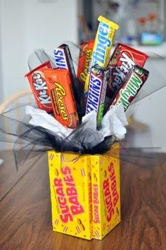 What a fun and simple gift -- love the candy as the box/container too!