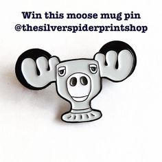 #Repost @thesilverspiderprintshop  Business was too crazy during the past week to announce a new giveaway or that @littlefilmyfox won the last giveaway. Here's a new one for the moose mug pin inspired by the classic moose mug from Christmas Vacation. To win this just follow these steps:  1. Follow @thesilverspiderprintshop and like this post. 2. Tag up to five friends in five separate comments below.  3. For 5 extra chances to win repost this pic one time and tag me plus use the hashtag…