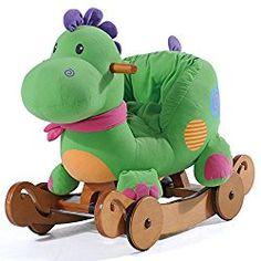 Go to http://prenatal-baby-toddler-preschool-store.co.uk/labebe-wooden-green-rocking-dinosaur-with-wheels  to review Labebe - Wooden Green Rocking Dinosaur with Wheels by Labebe