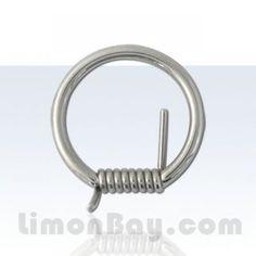 Aro cerrado con alambre de espino. 1,6mm. 14mm de diámetro. Acero quirúrgico. Ideal para usar en tu piercing de pezón o tu piercing de oreja, aunque también, 3.57