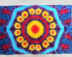 Tie Dye Tapestry 58x40 inches made by by Emeraldsprings on Etsy
