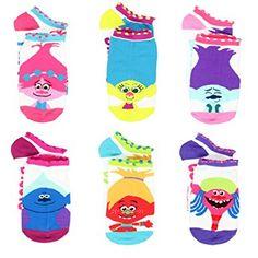 Trolls Movie Girls Teen Womens 6 pack Socks (Toddler/Little Kid/Big Kid/Adult) Trolls Birthday Party, Troll Party, Cute Socks, Women's Socks, Best Kids Toys, Girls Socks, Tween Girls, 6 Packs, Dreamworks