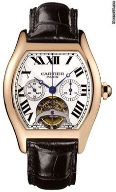 Cartier Tortue Tourbillon Limited Edition Chronograph Single Push Piece 18kt…