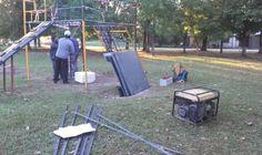 Siguen los trabajos de reacondicionamiento en espacios públicos de la ciudad