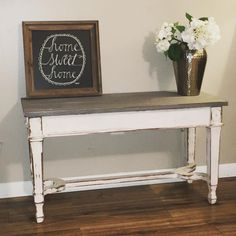 """40 Likes, 3 Comments - Refined Designs by Amanda (@refineddesignsbyamanda) on Instagram: """"Super distressed piano bench  #chalkpaint #handpainted #distressed #shabbychic #shabbychicdecor…"""""""