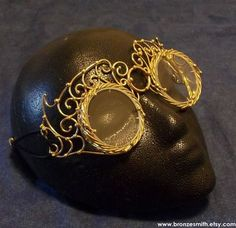 Bronze Steampunk Goggles by BronzeSmith on Etsy