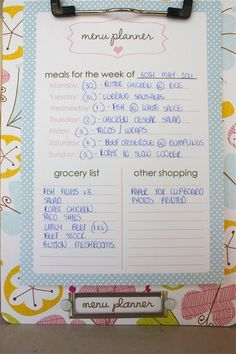 More Meal Planning Ideas