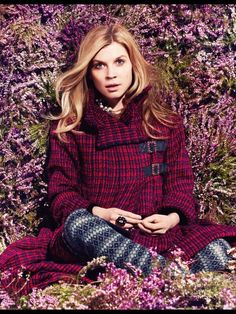 Clemence Poesy by Jem Mitchell for Tatler UK August 2013 Clémence Poesy, French Actress, Parisian Chic, Mixing Prints, Gossip Girl, Movie Stars, High Fashion, Fashion Sets, Editorial Fashion
