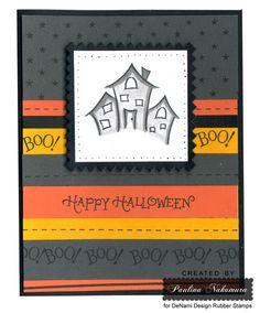 DeNami Halloween Houses card