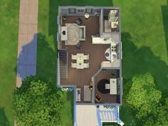 This is a cute family home that has 3 bedrooms, 3 bathrooms, and a study. It is perfect and practical for growing families. Found in TSR Category 'Sims 4 Residential Lots'