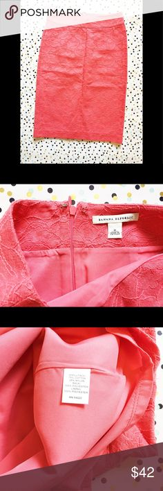 """Banana Republic 0 Pencil Lace Pink Skirt Size 0 Banana Republic 0 Pencil Lace Pink Skirt Size 0  Length:23"""" Waist: 13""""(laying flat)   Check out my other items! Banana Republic Skirts Pencil"""