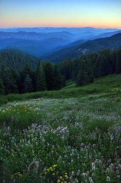 from Mt. Ashland, Oregon at dusk